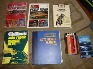Car Motorcycle Repair Manuals Ford, Pontiac, Chev, Chrysler