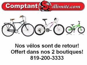 Nos vélos sont de retour dans nos 2 boutiques chez Comptant illimite.com 819-200-3333