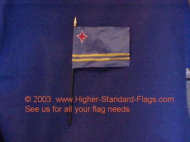 ARUBA  desk flag -- 4x6 inch on plastic staff with spear point