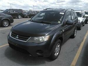 2007 MITSUBISHI OUTLANDER AWD LS, SUNROOF, BLUETOOTH, CD CHANGER