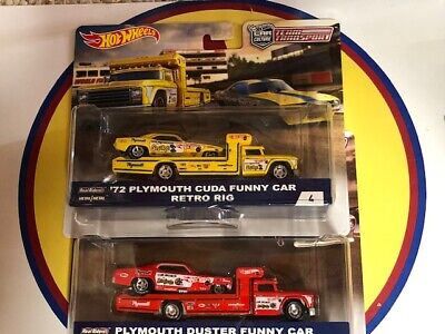 HOT WHEELS TEAM TRANSPORT SNAKE & MOONGOOSE FANNY CAR WITH RETRO RIG