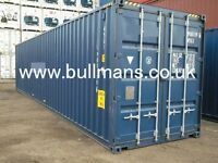 40ft High cube new build / single trip steel container, storage container, site container for sale