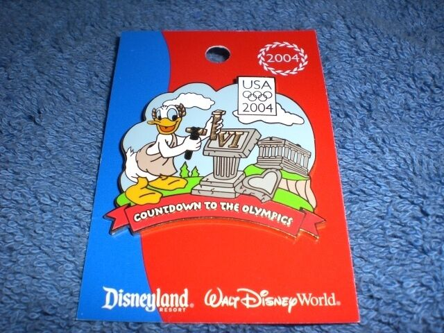 Disney DLR 2004 USA Olympics COUNTDOWN TO THE GAMES #6 DONALD LE 750 Pin