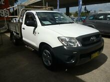 2009 Toyota Hilux TGN16R 09 Upgrade Workmate White 5 Speed Manual Cab Chassis Holroyd Parramatta Area Preview