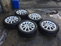 """SET OF 4 (AND SPARE) VAUXHALL WHEELS & TYRES 16"""""""