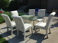 Glass Table with 6 Chairs