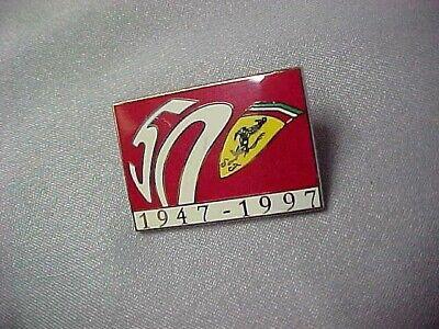 FORMULA 1 FERRARI 50TH ANNIVERSARY PIN BADGE 1947-1997 Exc Cond  E