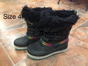 Girls winter boots and shoes
