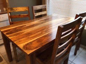 Dining Set - Rosewood in pristine condition 5'x 3'