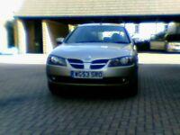 Nissan Almera 1.8 3dr Hatch 2003 - New MOT - Champagne Gold - Bargain at £795 !