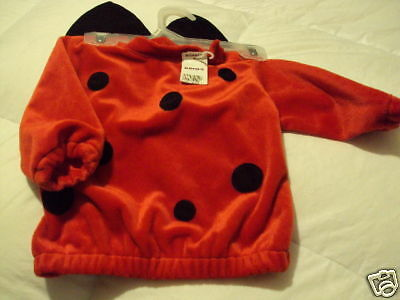 First moments Newborn Girls 6-9 M Halloween RED BLACK VELVET LADYBUG COSTUME - Newborn Ladybug Costume