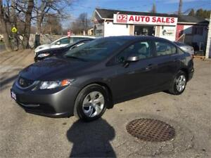 2013 Honda Civic Auto/1Owner/Accident Free/Bluetooth/Certified