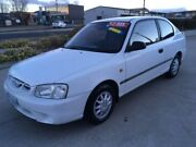 2001 Hyundai Accent LC GL White 4 Speed Automatic Hatchback Fyshwick South Canberra Preview
