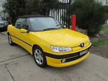 2000 Peugeot 306 N5 MY01 Yellow 4 Speed Automatic Convertible Tottenham Maribyrnong Area Preview