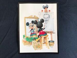 Disney Self Portrait Mickey Mouse Charles Boyer Wall Mount Print Postcard 1991