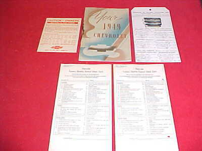 Service Manual-kit (1949 CHEVY CAR OWNERS MANUAL KIT SERVICE GUIDE BOOK 49 GROUP LOT OF 5 ITEMS)
