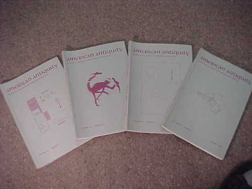 Complete set of 4-1994 American Antiquity-Journal Society American Archaeology