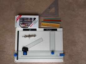 BRAND NEW A3 drawing board & Rotring Isograph college set