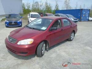 2003 TOYOTA COROLLA AUTOMATIQUE CLIMATISEE 4CYLINDRES PROPRE