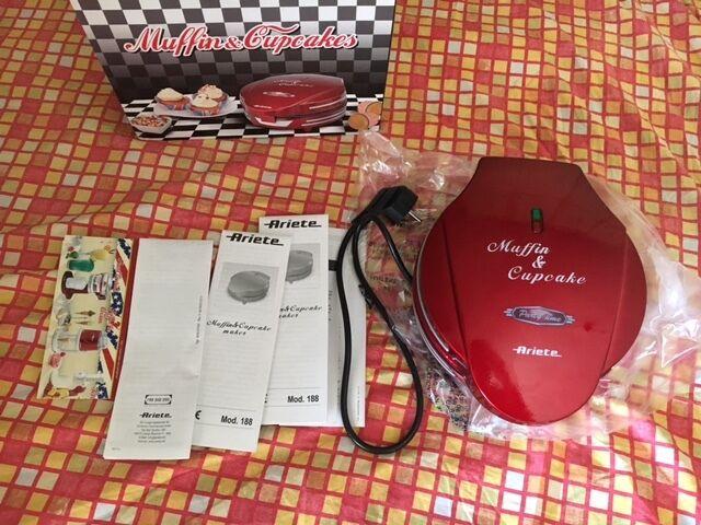 macchina Piastra elettrica per muffin Ariete 188 party muffins cupcake red rosso