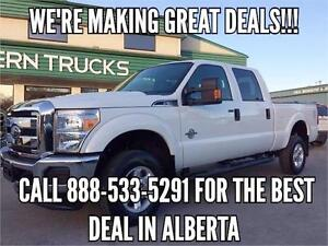 2015 Ford F-350 XLT 4x4 Diesel ~Cheapest in Alberta!!! $338  b/w