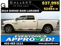 2014 DODGE RAM LARAMIE CREW *EVERYONE APPROVED* $0 DOWN $249/BW!