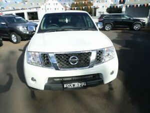 2012 Nissan Navara D40 S5 MY12 ST-X 550 White 7 Speed Sports Automatic Utility Young Young Area Preview