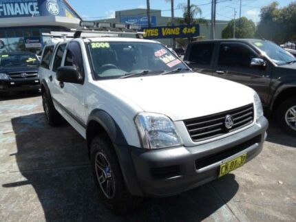 2006 Holden Rodeo RA MY06 Upgrade LX (4x4) White 4 Speed Automatic Crew Cab P/Up