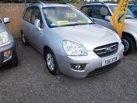 KIA Carens 5dr 7 SEATER 6 MONTHS NATIONWIDE WARRANTY Minster Autos ME12 3RT