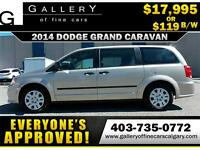 2014 Dodge Grand Caravan SXT $119 bi-weekly APPLY NOW DRIVE NOW