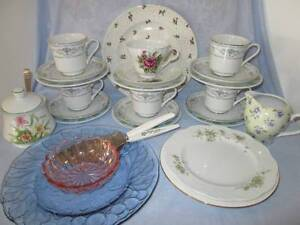 Retro Crazy Tea Set For High Tea. Cups, Saucers, Side Plates Morayfield Caboolture Area Preview