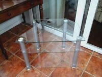 GLASS T. V. STAND.