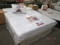 *BRAND NEW FACTORY WRAPPED*KINGSIZE/5 feet wide/Free Local Delivery Bed Base & THICK ORTHO MATTRESS