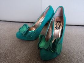 Ladies Teal Butterfly front Size 40