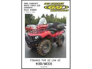 SUPER DEALS ON USED ATV'S ONLY AT G & G BROTHERS LTD