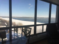 3 1/2 Penthouse for Rent Nuns Island Verdun Great View