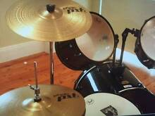 Pearl nine piece drum kit with Paiste Cymbal upgrade Drummoyne Canada Bay Area Preview