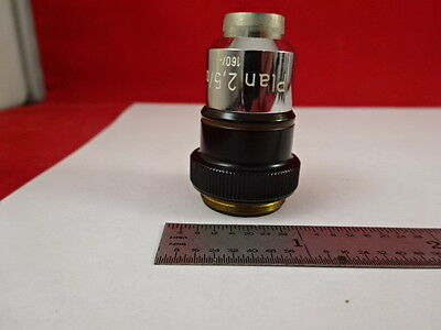Microscope Part Carl Zeiss Objective Germany Plan 2.5x Optics C6-c-56