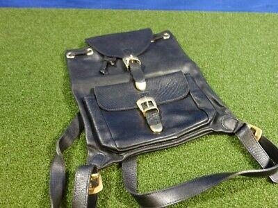 Authentic GIANNI VERSACE Medusa Backpack Hand Bag Black Leather Vintage
