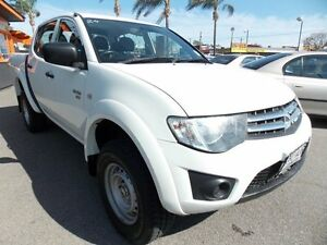 2011 Mitsubishi Triton MN MY11 GLX Double Cab White 5 Speed Manual Utility Enfield Port Adelaide Area Preview