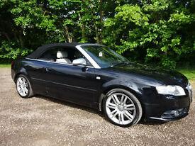 Audi S4 Cabriolet 4.2 Tiptronic 2007 Quattro / Phantom Black / SAT NAV / BOSE /