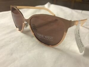 a2498b2402d NEW Nine West Womens champagne peach pink cat eye Sunglasses trendy stylish  03