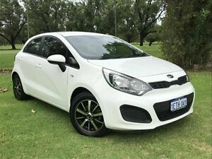 2013 Kia Rio UB MY13 S White 4 Speed Sports Automatic Hatchback Embleton Bayswater Area Preview