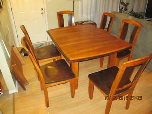 Solid tropical wood Dining Set