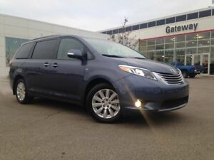 2016 Toyota Sienna Limited AWD, 7 Pass, DVD, Pano roof