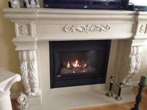 Holiday Sale 35%off+$400Cashback Stone Fireplace Mantel Mantle T