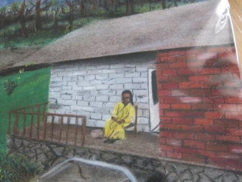 Outsider Art Quenten B. Smith Stateville Prison Art Black Life Pastoral Scene