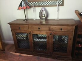 Sheesham sideboard 1500w 450d 900 h mm. Very good condition
