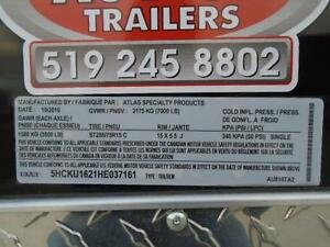 Fully Loaded Enclosed Construction Trailer - 2017 8X16 ATLAS!! London Ontario image 4