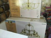 CHANDELIER 6 OR 5 OR 3 light brand new